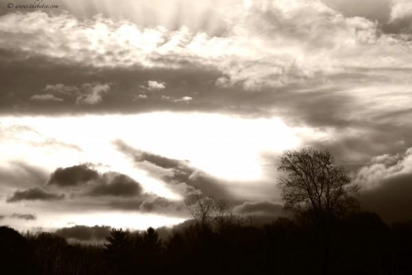 amber clouds