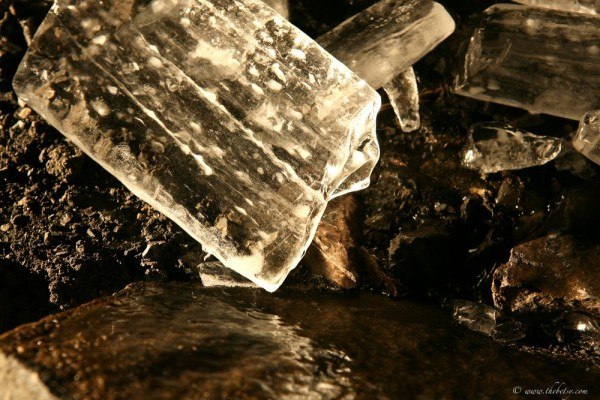 lehigh gorge rail tunnel shards of ice glass