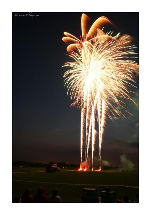 quad fireworks framed image