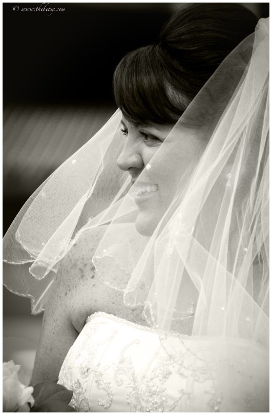 wedding phillies pam mike black white veil portrai