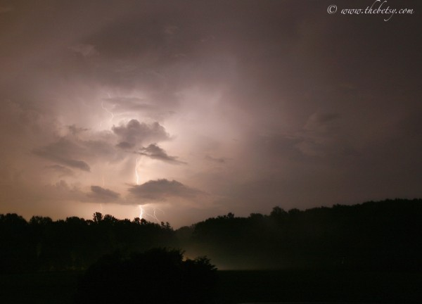 lightning storm night sky bolt chester county