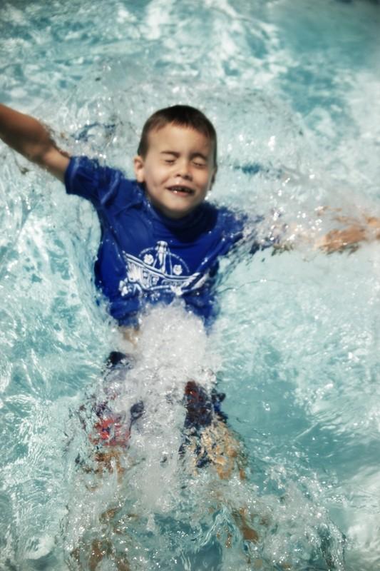 jack swimming nestea plunge pool blue summer