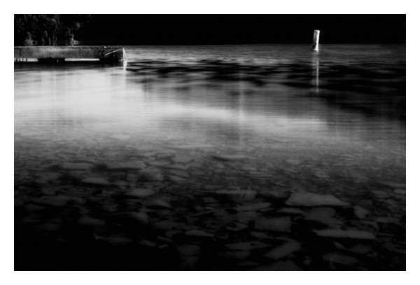 calm water dock buoy nd filter black white