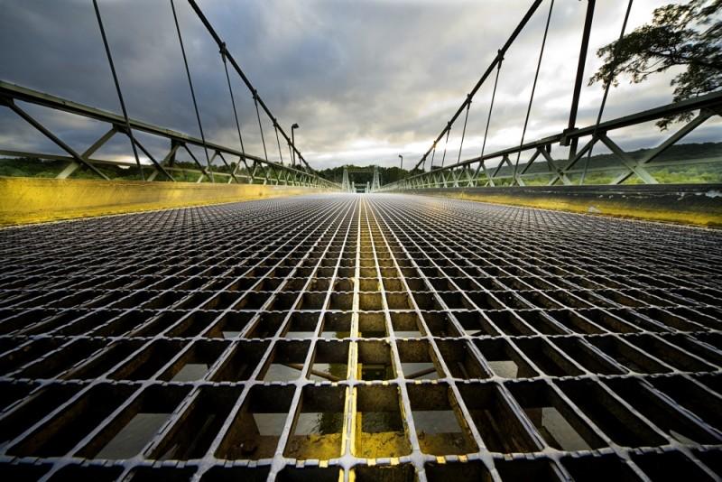 roebling bridge wide angle pennsylvania