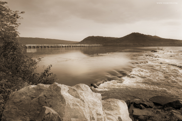 rockville bridge, susquehanna, river, water, harri