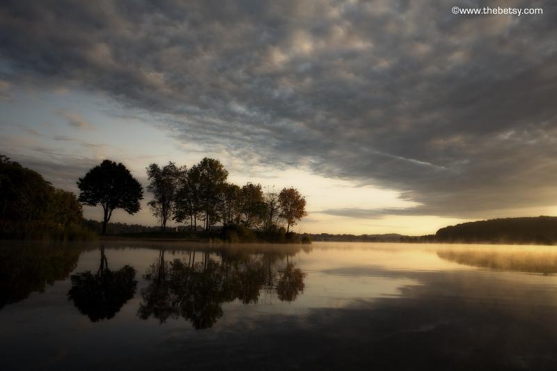 marsh creek sunrise lake autumn