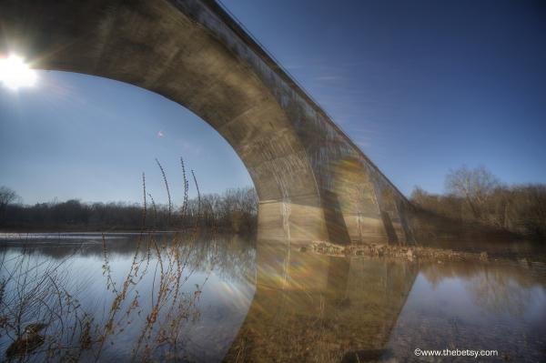 train bridge phoenixville canal