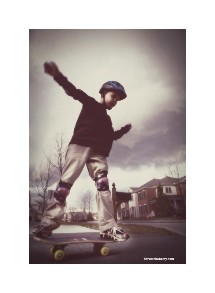 jack, skateboard, portrait