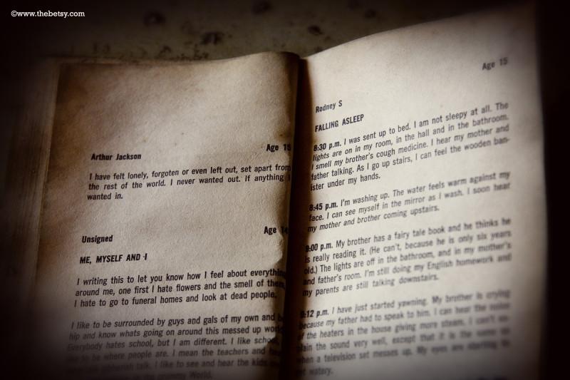 book, abandoned, trespassing