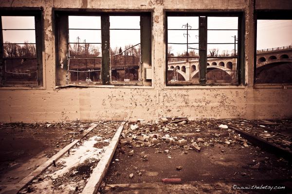 schuylkill, ruins, demolition, bridge, city