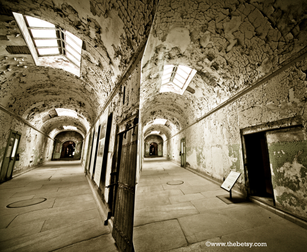 eastern-state-penitentiary, mirror, hallway