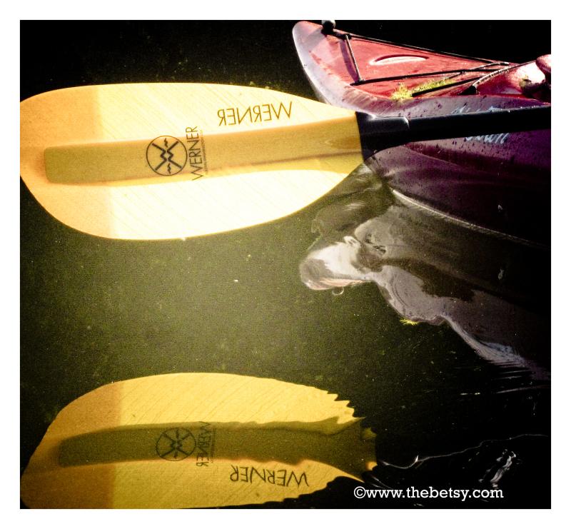 kayak, paddle, lake