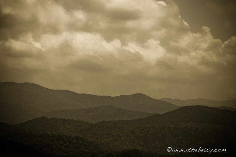smokies, tennessee, landscape, clouds, rolling-hil