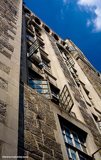 nyc, building, windows, fall
