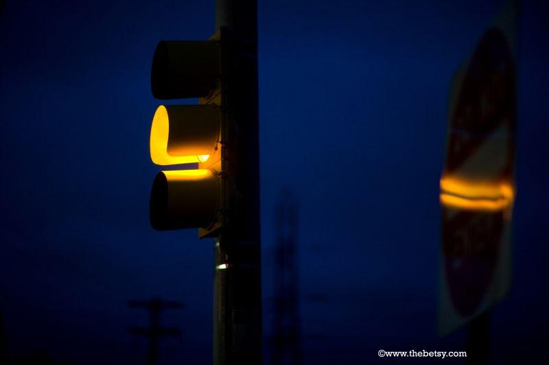 street, stoplight, yellow, sign