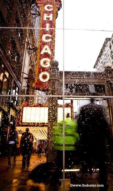 chicago, rain, street, subway