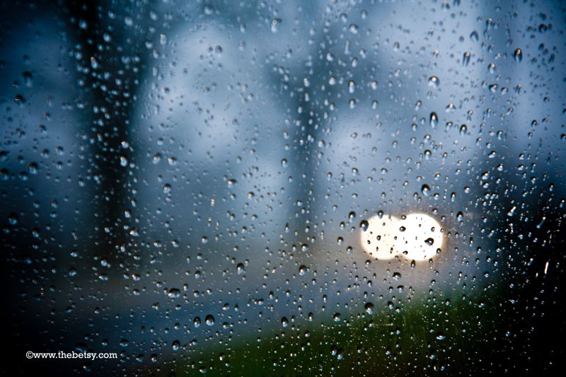 rain, window, car, landscape