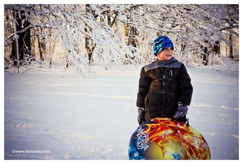 jack, sledding, winter, snow, portrait, trees