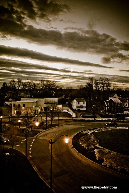 sunrise, annapolis, street, clouds
