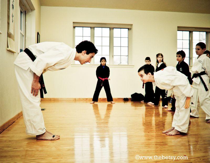 karate, children, sensei, bow, dojo
