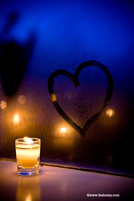 heart, steam, candle, window, valentine