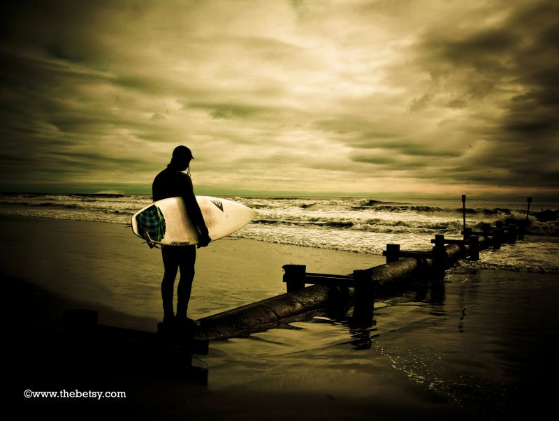 surfer, beach, ocean