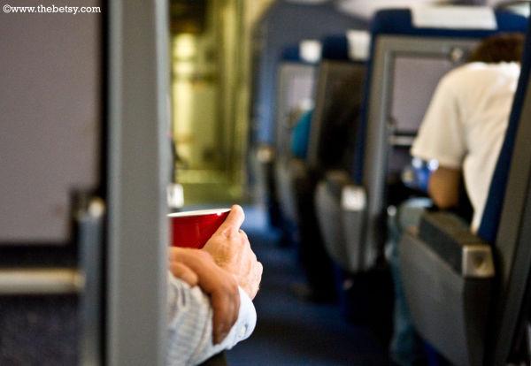 train, cup, hand, man
