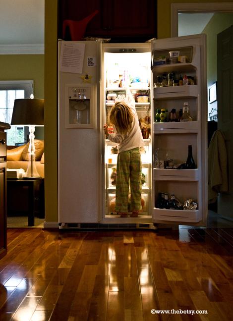 reese, portrait, kitchen, refrigerator