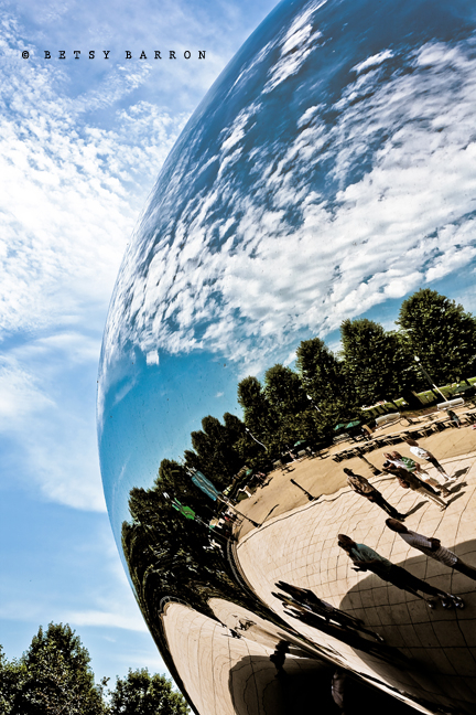 bean chicago cloud-gate sculpture sky reflection