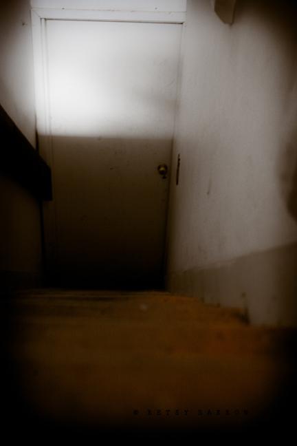 stairwell, stairs, door, dark