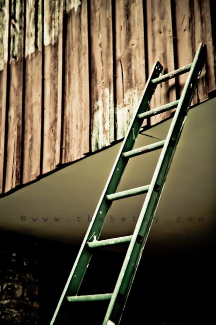 ladder, barn, country