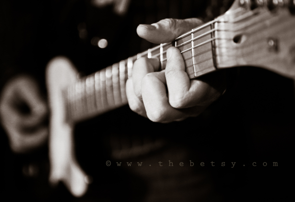 music, guitar, portrait, black_white, instrument