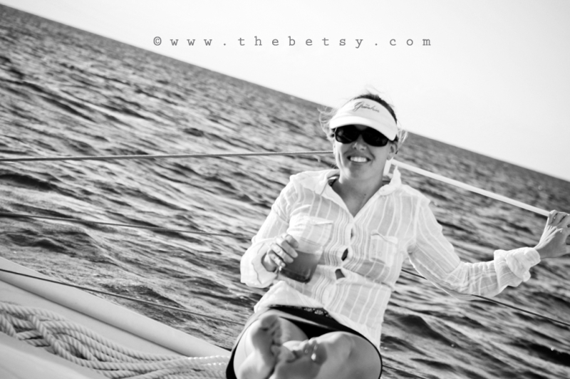 me, self-portrait, boat, ocean, catamaran, sunet