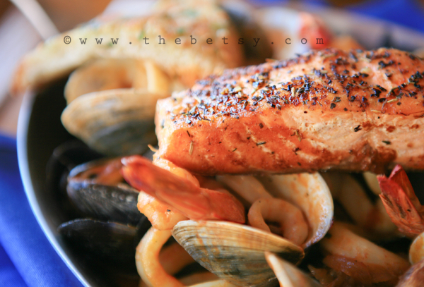 cioppino, italian, dinner, seafood, salmon