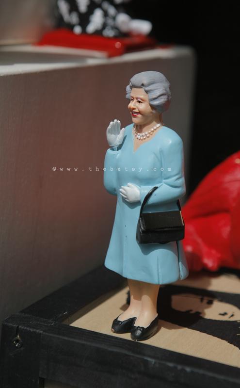 queen, england, statue, souvenir