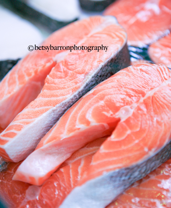 salmon, fish, farmers market, food