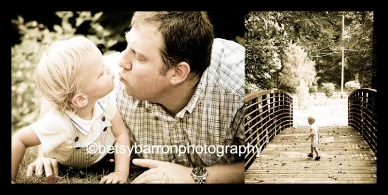 dad, son, children, diptych, portrait