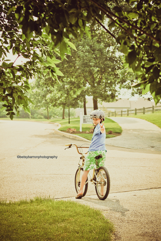 bike, kids, children, boy, play, summer, trees,