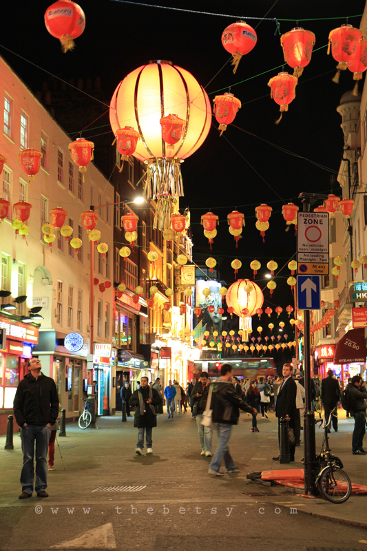 london, night, lights, china, town, street