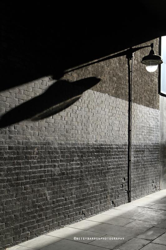 lamppost, london, shadow, sun, street