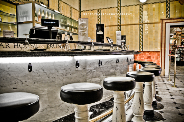 prunier, caviar, harrods, counter, stools, restau