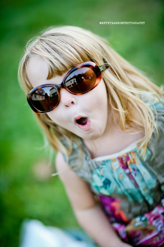 girl, sunglasses, excited, portrait