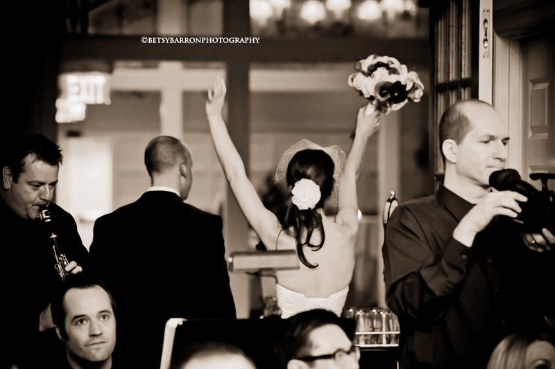 wedding, bride, groom, sepia, flowers
