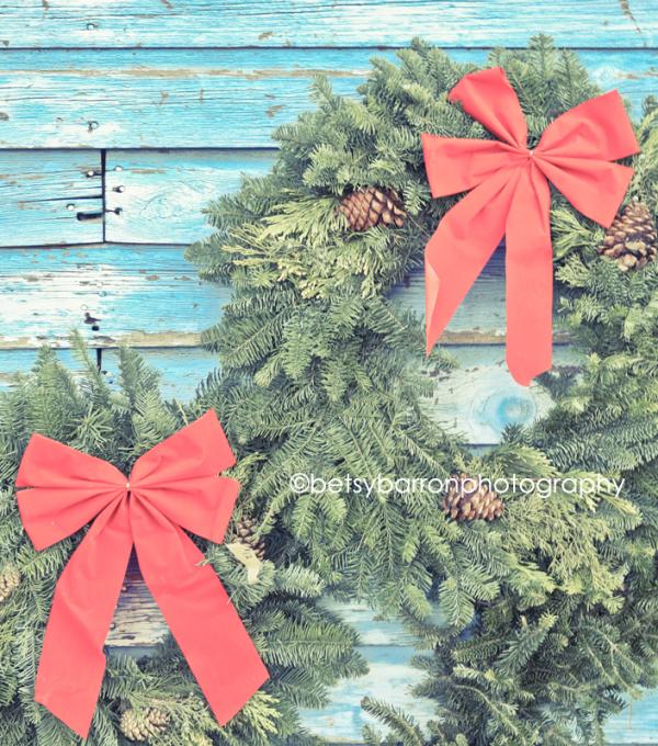 wreaths, christmas, bow, vintage