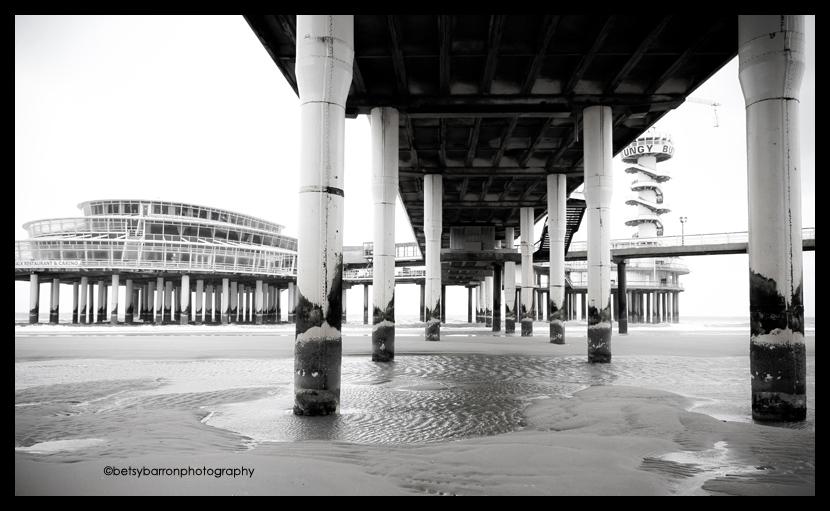 pier, beach, netherlands