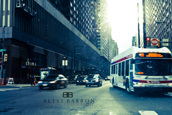 city, philadelphia, urban, bus, traffic, cars