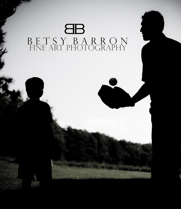 dad, son, family, baseball, game, silhouette