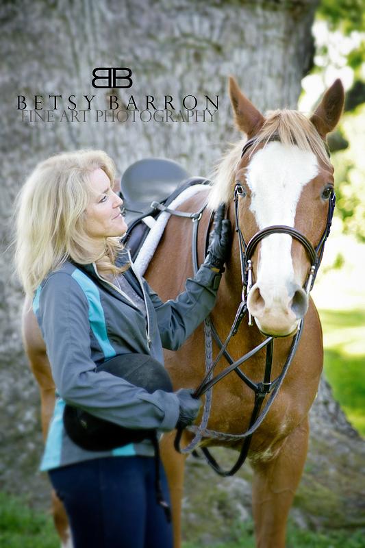 horse, rider, woman, portrait