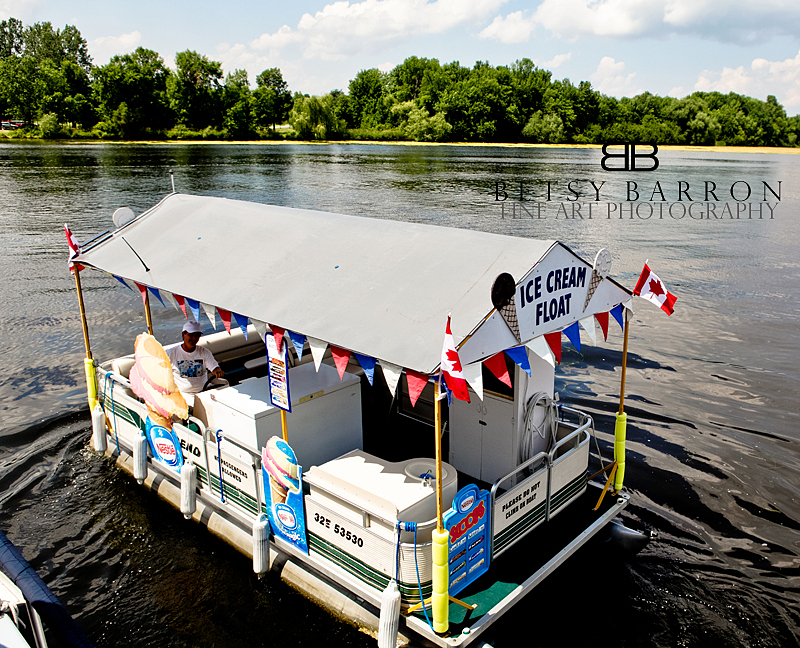 ice, cream, boat, delivery, rideau