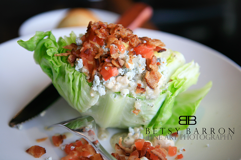 salad, wedge, blue, cheese, dinner, lunch